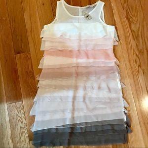 Ann Taylor Loft Tiered Pastel Mini Dress